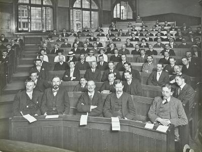 A Class Listening to a Lecture, London Day Training College, 1914--Photographic Print