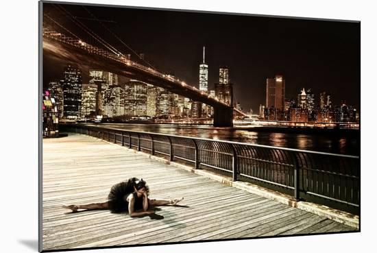 A Classic Ballerina Dances in Brooklyn Bridge Park-Kike Calvo-Mounted Photographic Print