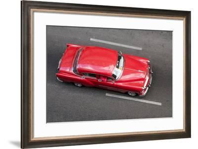 A classic Chevrolet on the street in Havana, Cuba.-Michael Melford-Framed Photographic Print