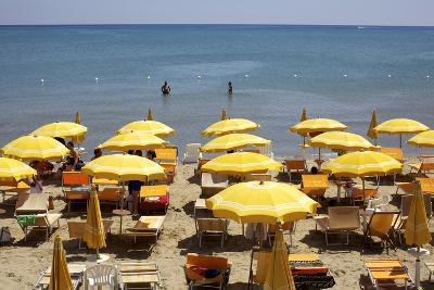 A Classical Lido on the Ionian Sea, on the Basilcata South Coast, Italy, Europe-Olivier Goujon-Photographic Print