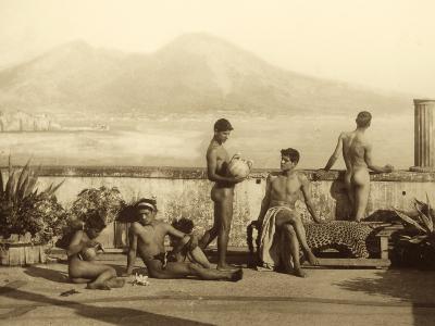 A Classical Scene, Tierra Del Fuego, South America. C.1899-Wilhelm Von Gloeden-Photographic Print