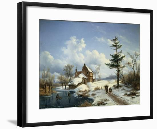 A Clear Winter's Day-Cornelius Lieste-Framed Giclee Print
