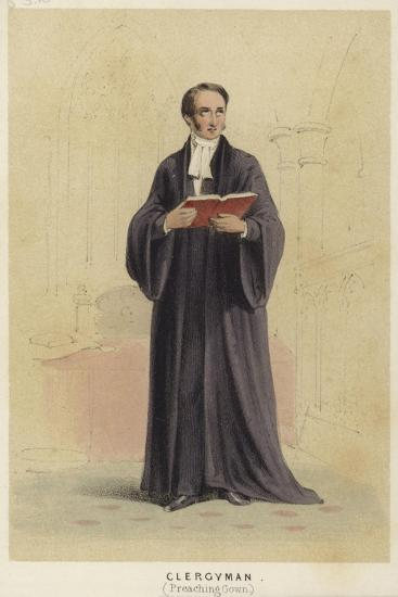 A Cleryman Wearing a Preaching Gown--Giclee Print