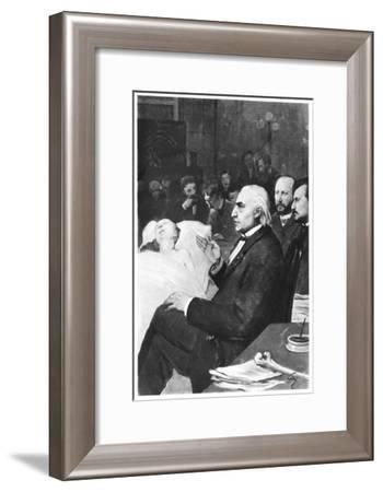 A Clinical Lesson with Doctor Jean Martin Charcot at the Salpetriere--Framed Giclee Print