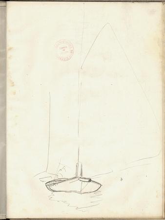 A Clipper of Argenteuil (Pencil on Paper)-Claude Monet-Premium Giclee Print
