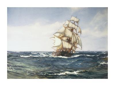 A Clipper Ship-Montague Dawson-Premium Giclee Print