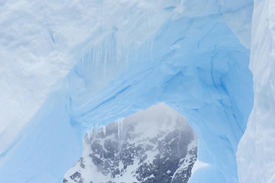A Close Up of an Iceberg Near Cuverville Island, Antarctica-Ralph Lee Hopkins-Photographic Print