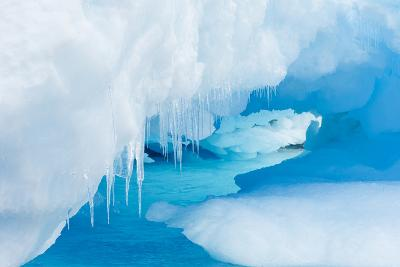 A Close Up of Icicles on an Iceberg in Gerlach Strait, Antarctica-Ralph Lee Hopkins-Photographic Print