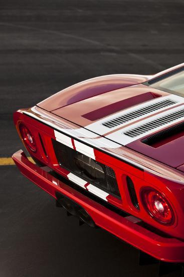 A Close Up Of The Back Of A  Horsepower Ford Gt Supercar On San Juan Island In Washington State Photographic Print By Ben Herndon Art Com