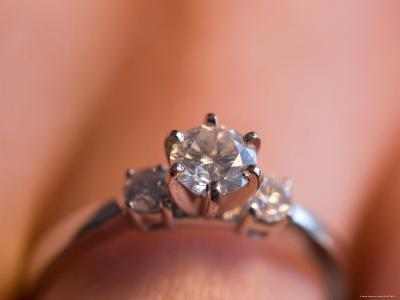A Close-up View of a Diamond Engagement Ring-Joel Sartore-Photographic Print