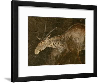 A Close View of an Eland in a San Rock Painting-Kenneth Garrett-Framed Photographic Print