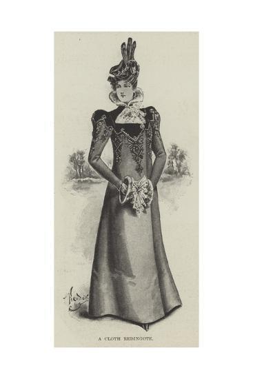 A Cloth Redingote--Giclee Print