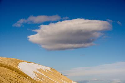 A Cloud in a Blue Sky Floats Above Palanderbukta-Michael Melford-Photographic Print