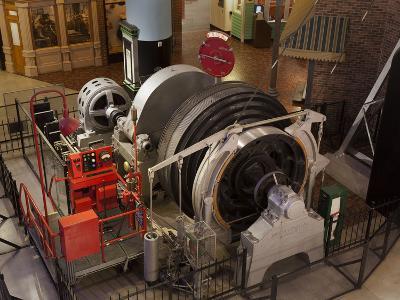 A Coal Mine Elevator Motor--Photographic Print