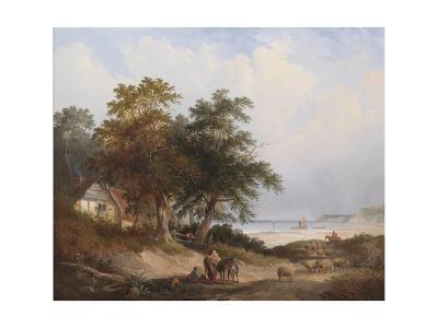 A Coastal Landscape, Isle of Wight-Henry John Boddington-Giclee Print
