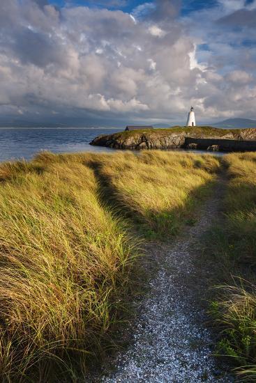A Coastal Path Leading to Twr Mawr Lighthouse on Llanddwyn Island, Anglesey, Wales-Garry Ridsdale-Photographic Print