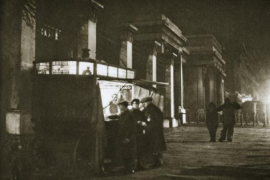 A coffee stall at Hyde Park Corner, London, 20th century-Unknown-Photographic Print