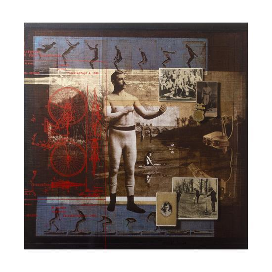 A Collage Depicts Famous Sports Figures from the Twentieth-Century-Fred Otnes-Giclee Print