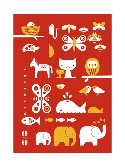 A Collection of Animals-Dicky Bird-Giclee Print