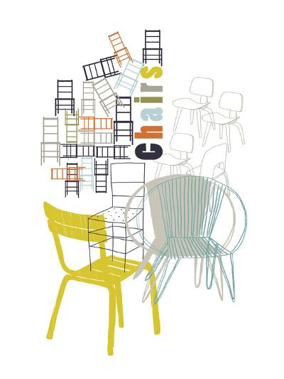 A Collection of Chairs-Laure Girardin-Vissian-Giclee Print