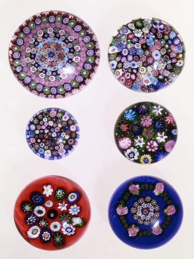 A Collection of Clichy Millefiori Weights--Giclee Print