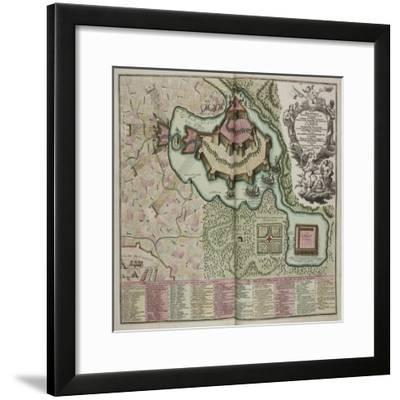 A Collection of Plans and Views of Towns in Various Parts of the World, France-J B Homann-Framed Giclee Print