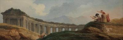 A Colonnade in Ruins-Hubert Robert-Giclee Print