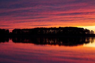 A Colorful Evening Sky over the Chesapeake Shoreline Near Kent Island-Skip Brown-Photographic Print
