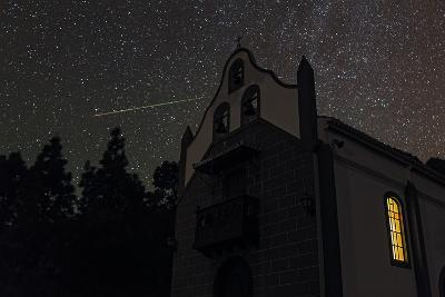 A Colorful Meteor Streaks the Sky in Ursa Minor-Babak Tafreshi-Photographic Print