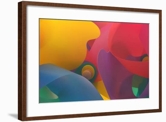 A Colorful Pattern Made of Pinwheels-Paul Damien-Framed Photographic Print