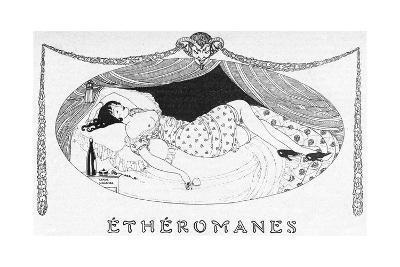 A Comatose Etheromane-Gerda Wegener-Giclee Print