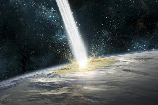 A Comet Strikes Earth-Stocktrek Images-Photographic Print