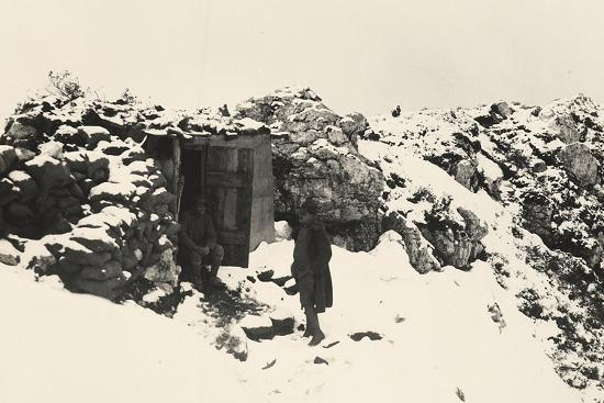 A Command Post on Monte Nero During World War I-Ugo Ojetti-Photographic Print