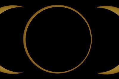 A Composite Image of an Annular Solar Eclipse-Babak Tafreshi-Photographic Print