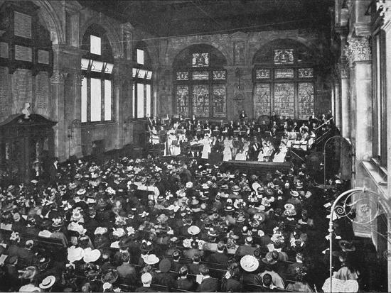 A concert at the Guildhall School of Music, London, c1901 (1901)-Unknown-Photographic Print