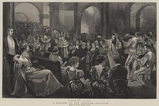 A Concert at the Imperial Institute-Arthur Hopkins-Giclee Print