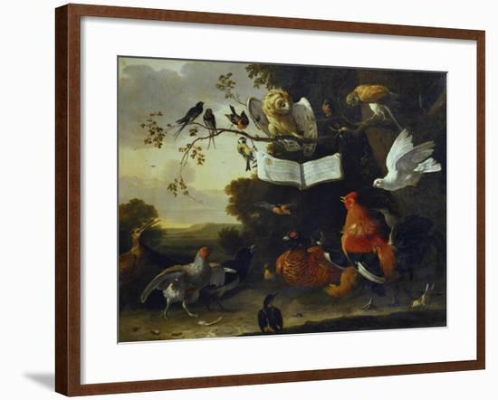 A Concert of Birds-Melchior de Hondecoeter-Framed Giclee Print