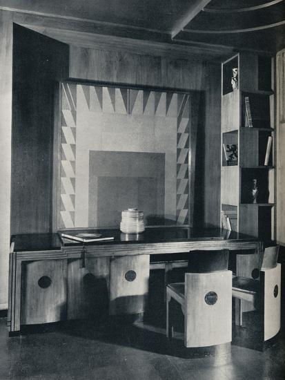 'A Conference Table and chairs for a private office. Designed by Joseph Sinel', 1930-Unknown-Photographic Print