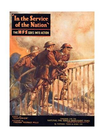 A Contemporary Word War Ii Booklet for the National Fire Service Benevolent Fund--Giclee Print