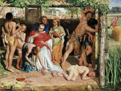 A Converted British Family Sheltering a Christian Missionary from the Persecution of the Druids-William Holman Hunt-Giclee Print