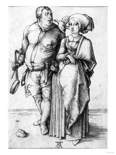 A Cook and His Wife, Circa 1496-Frank Cadogan Cowper-Giclee Print