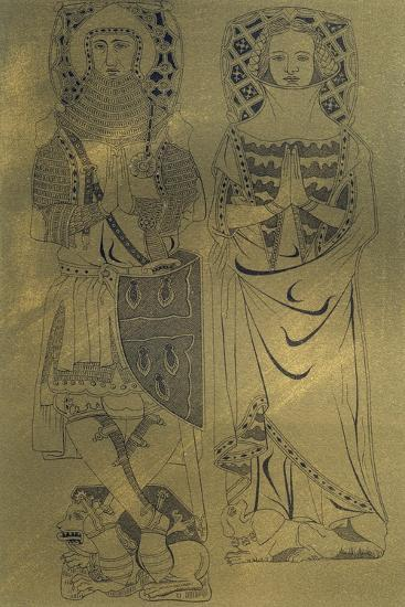 A Copper Plaque from Minster Abbey and Church, Isle of Sheppey, Kent, 1337-Franz Kellerhoven-Giclee Print