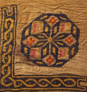A Coptic Textile Fragment Containing a Medallion with a Corner Border
