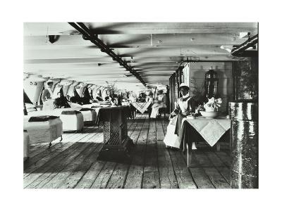 A Copy of a Photograph of the Ward Deck of the Atlas Smallpox Hospital Ship, C1890-C1899--Photographic Print