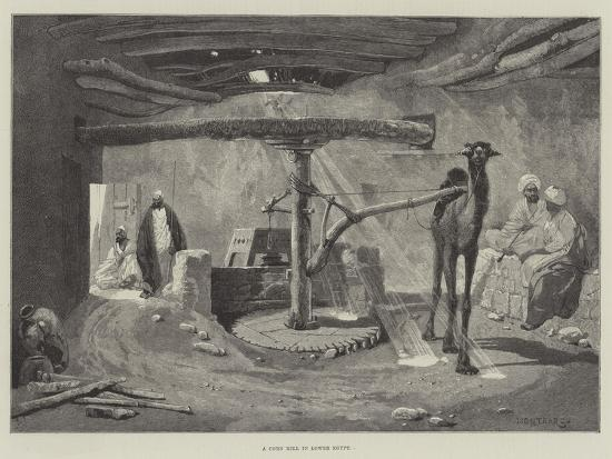 A Corn Mill in Lower Egypt-Charles Auguste Loye-Giclee Print