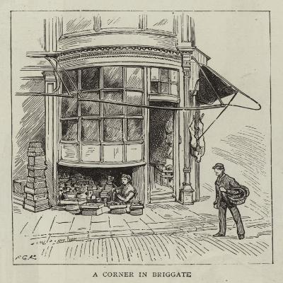 A Corner in Briggate--Giclee Print