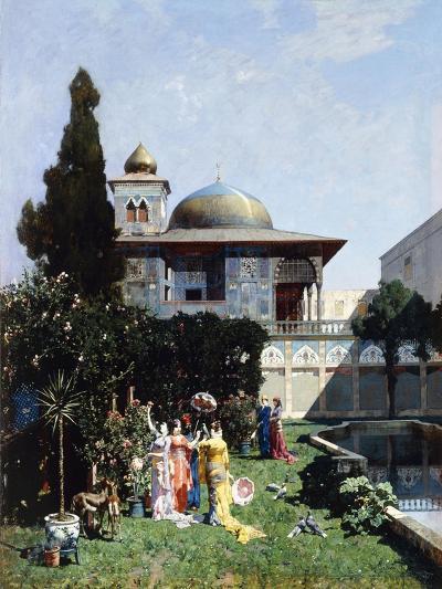 A Corner in the Garden of the Harem; Un Angolo De Giardino Dell'Harem, 1877-Alberto Pasini-Giclee Print