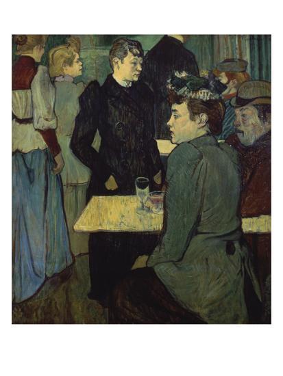 A Corner in the Moulin De La Galette-Henri de Toulouse-Lautrec-Giclee Print