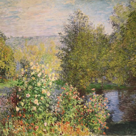 A Corner of the Garden at Montgeron, 1876-7-Claude Monet-Premium Giclee Print