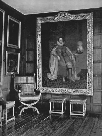 'A Corner of the Leicester Gallery, Knole. With Portrait of James I', 1928-Unknown-Photographic Print